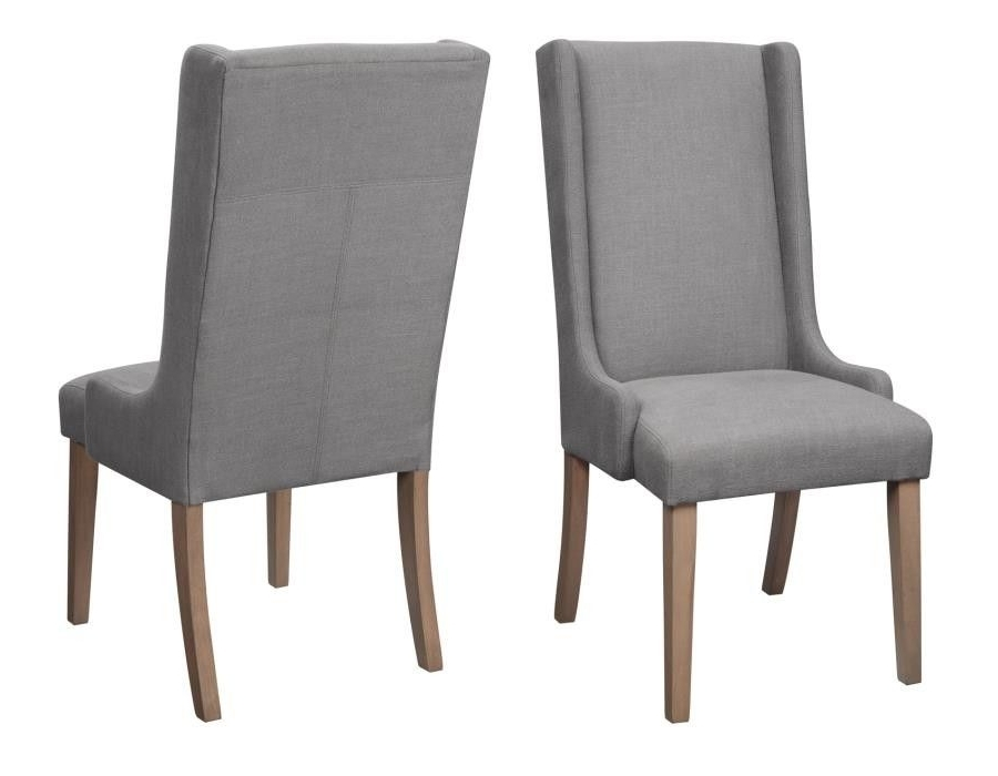 Fabric Dining Chairs, Grey Pertaining To Hayden Cognac Side Chairs (View 3 of 20)