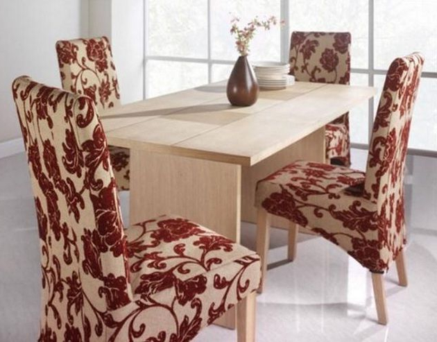 Fabric Dining Room Chairs Intended For 2018 Dining Room Chair Fabric Ideas For Minimalist Small Dining Table (Gallery 20 of 20)
