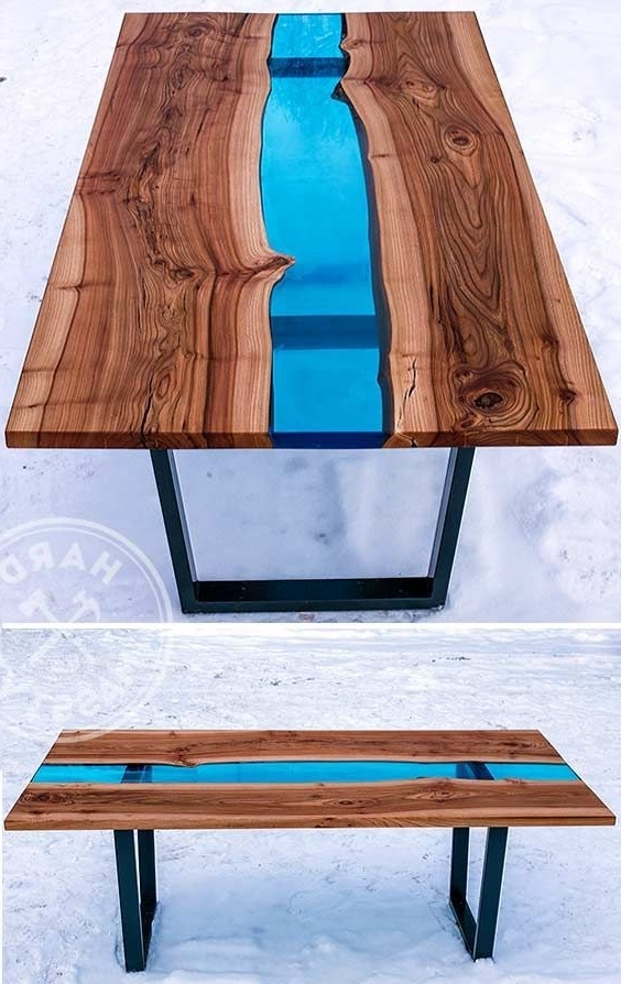 Famous 28 Unique Dining Tables To Make The Space Spectacular – Digsdigs With Regard To Blue Glass Dining Tables (View 2 of 20)
