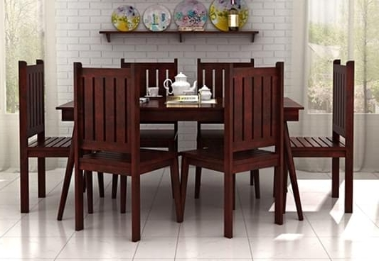 Famous 6 Seat Dining Tables And Chairs With 6 Seater Dining Set – Welcome To Furnitureparkonline (View 11 of 20)
