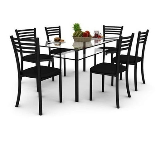 Famous 6 Seater Glass Dining Table Set, Glass Dining Room Table, Glass Pertaining To 6 Seater Glass Dining Table Sets (View 10 of 20)