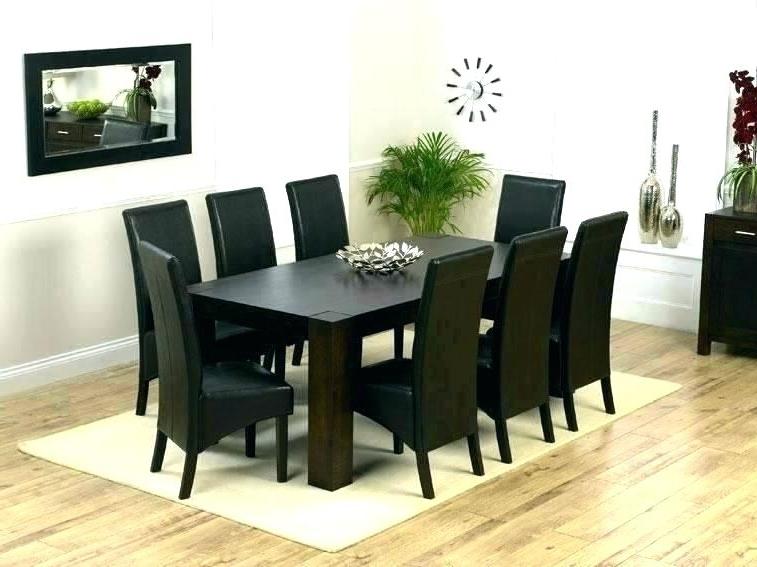 Famous 8 Chairs Dining Tables Intended For Round Formal Dining Table For 8 Dining Room With Round Table Amazing (View 13 of 20)