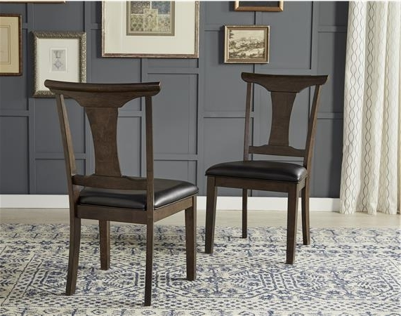 Famous A America Brooklyn Heights T Back Side Chair – Set Of 2 – Deqor With Amos Side Chairs (View 7 of 20)