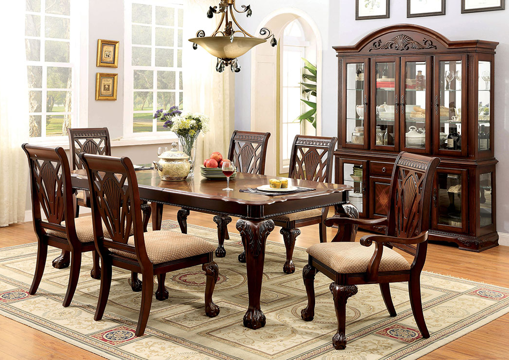 Famous Affordable Mattress And Furniture Petersburg L Cherry Rectangle Regarding Craftsman 7 Piece Rectangle Extension Dining Sets With Side Chairs (Gallery 8 of 20)