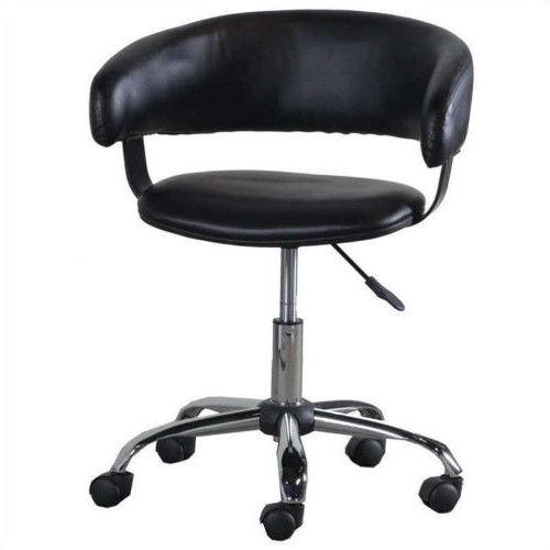 Famous Alexa Firecracker Side Chairs With Powell Furniture Gas Lift Desk Office Chair In Black (View 12 of 20)