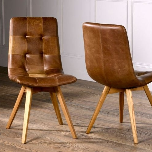 Famous Allegro Dining Chair Intended For Brown Leather Dining Chairs (View 9 of 20)