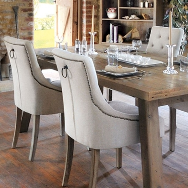 Famous Bainton Cream Button Back Dining Chair – Wooden Furniture Store Pertaining To Button Back Dining Chairs (View 18 of 20)