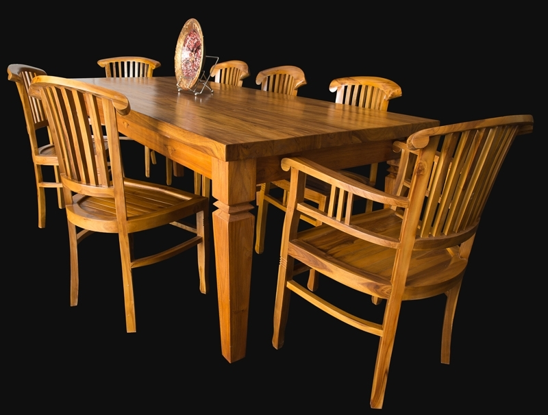 Famous Balinese Dining Tables Throughout Bali Teak Furniture Portland Quality Wood Indoor Dining Tables (View 5 of 20)