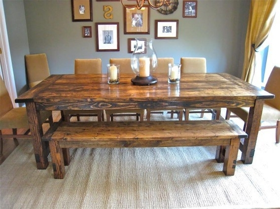 Famous Barn House Dining Tables Intended For How To Make A Farm House Dining Table – A Website For All The Ideas (View 12 of 20)