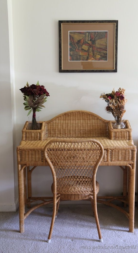 Famous Basketry Furniture Vintagemaria Di Siena On Etsy (View 4 of 20)