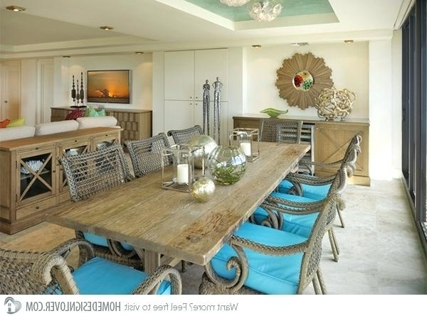 Famous Beach Dining Table Beach Renovation Solid Beech Wood Dining Table Inside Coastal Dining Tables (View 10 of 20)