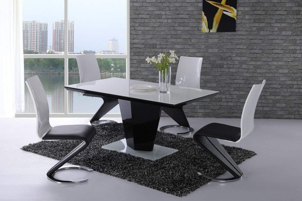 Famous Black Gloss Dining Tables Pertaining To Bujovky Black Gloss Dining Table And 6 Chairs 2018 John Lewis Dining (View 9 of 20)