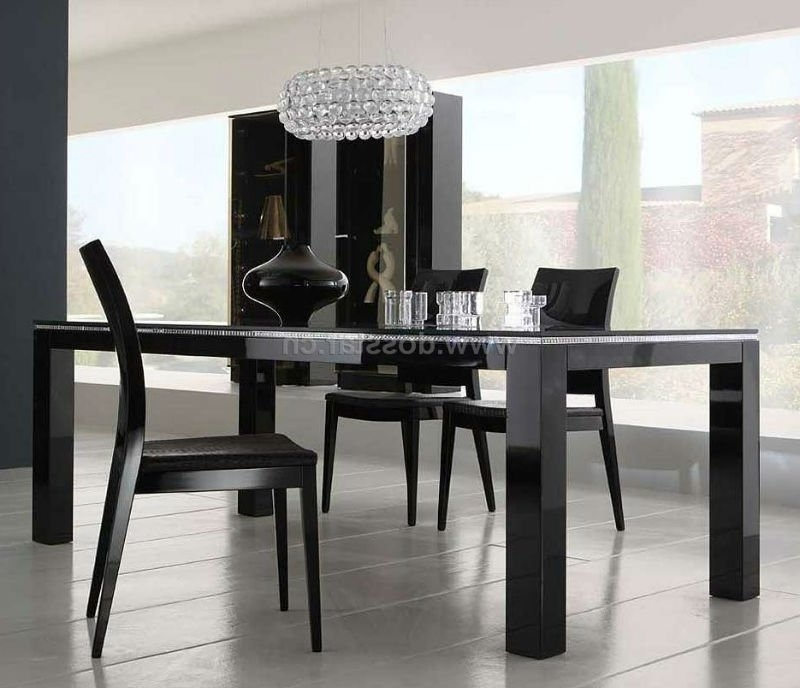 Famous Black High Gloss Dining Table Dm01# Shop For Sale In China (Mainland With Regard To Black Gloss Dining Sets (View 7 of 20)