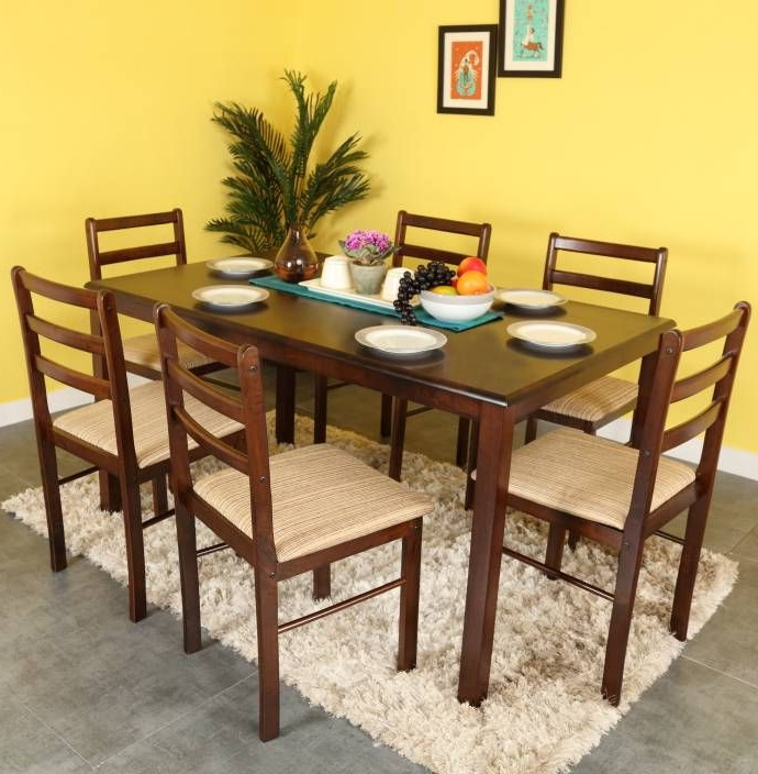 Famous Buy Wooden Dining Sets Online In India (View 19 of 20)