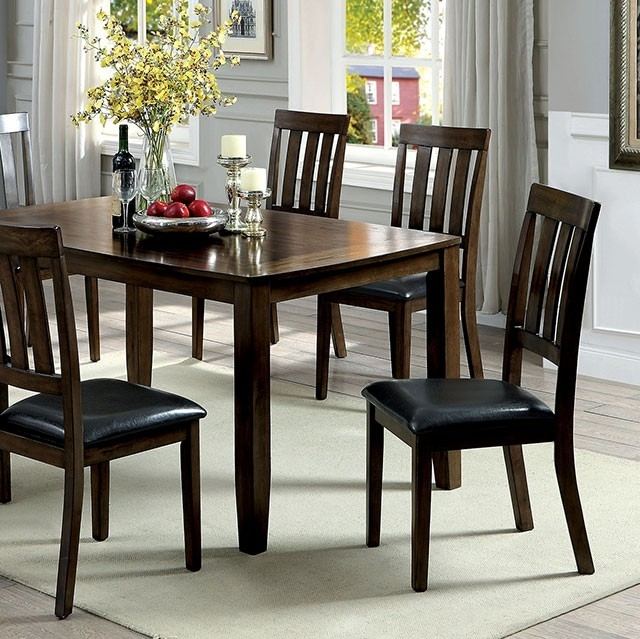 Famous Chandler Wood Side Chairs Inside Chandler Complete 7 Piece Dining Table Set (View 11 of 20)
