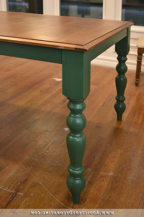 Famous Change Of Plans – Black Table, Green Chairs Intended For Green Dining Tables (View 12 of 20)