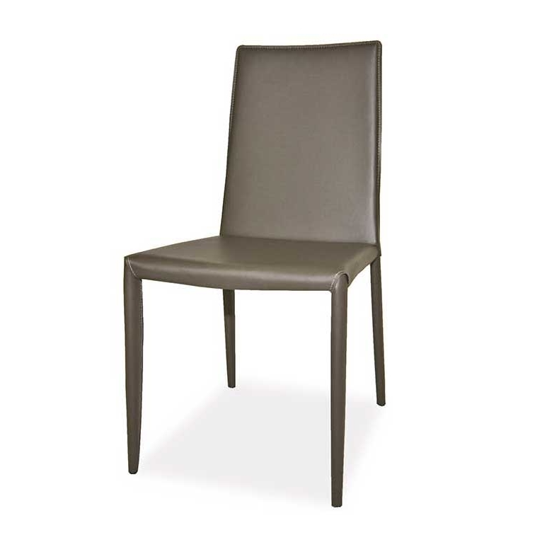 Famous Charcoal Dining Chairs Pertaining To Lusso Modern Dining Chair Charcoal – (Set Of 2)Moe's Home (View 11 of 20)