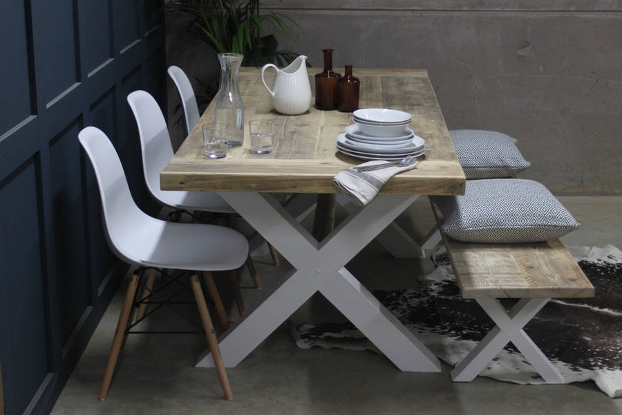 Famous Cheap Reclaimed Wood Dining Tables Regarding King's Cross Reclaimed Wood Dining Table With X Framerust (View 9 of 20)