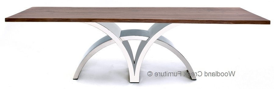 Famous Contemporary Base Dining Tables In Dining Table With Contemporary Stainless Steel Base (View 8 of 20)