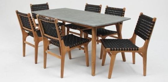 Famous Copenhagen Poly Cement Table/delhi Chair 7 Piece Timber Dining Intended For Partridge 7 Piece Dining Sets (Gallery 20 of 20)