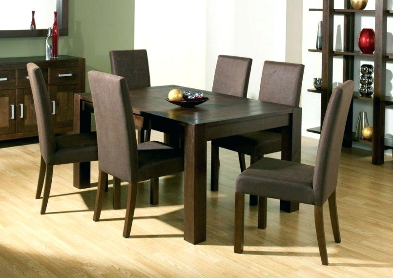 Famous Dark Wood Dining Tables Inside Dark Wood Dining Furniture Dark Wood Dining Table And White Dining (View 14 of 20)