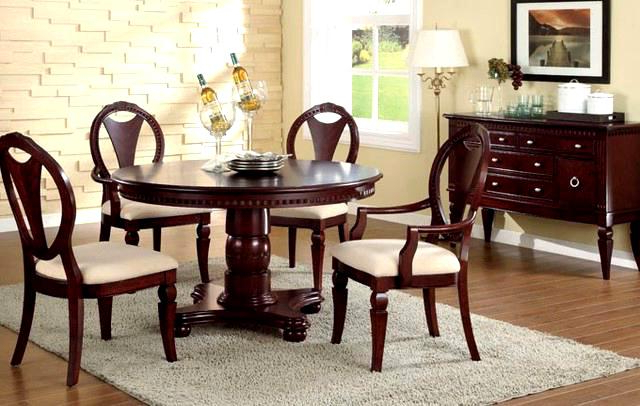 Famous Delightful Wood Dining Set F D Dining Set F Furniture Cherry Wood Regarding Ebay Dining Suites (View 12 of 20)