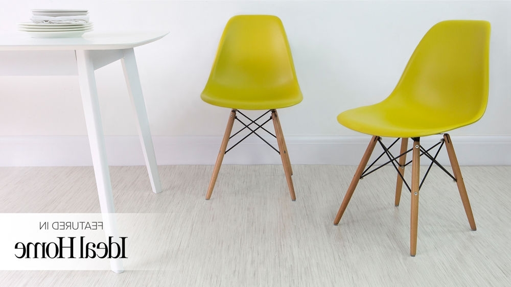 Famous Dining Chairs With Blue Loose Seat In Eames Dining Chair High Quality Uk Fast Delivery (View 3 of 20)