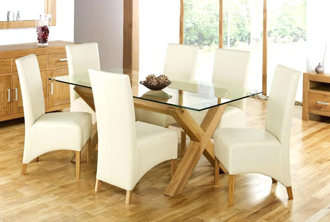 Famous Dining Room Furniture Glass Charming Dining Room Sets Glass Top In Glass Dining Tables And 6 Chairs (View 16 of 20)
