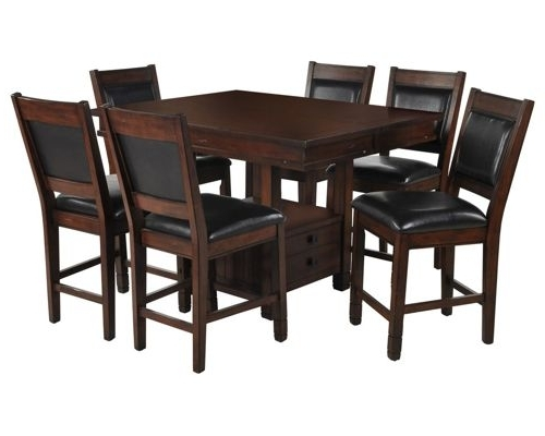 Famous Dining Room Furniture Within Bradford 7 Piece Dining Sets With Bardstown Side Chairs (View 13 of 20)