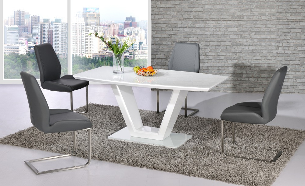 Famous Dining Tables – Bcf Inside Cream Gloss Dining Tables And Chairs (Gallery 20 of 20)