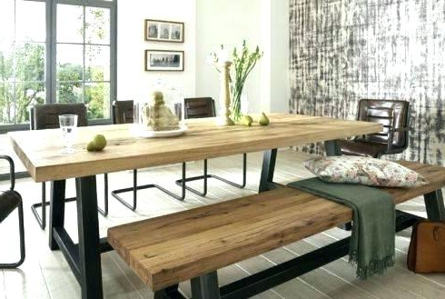 Famous Dining Tables Bench Seat With Back Regarding Dining Table Bench Seat With Back – Modern Computer Desk (Gallery 10 of 20)