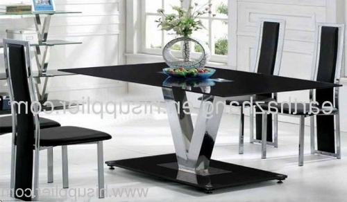 Famous Dining Tables Black Glass Regarding Hot Sell Black Glass Dining Table Xydt 252 Manufacturer From China (View 12 of 20)