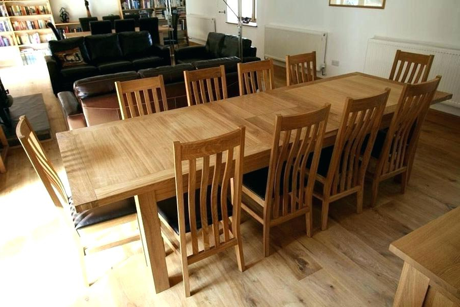 Famous Extending Dining Table With 10 Seats Regarding Decoration: Extendable Dining Table Seats (View 10 of 20)