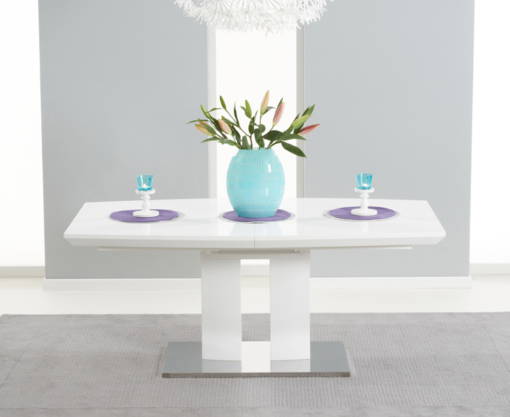 Famous Extending Gloss Dining Tables Regarding Richmond 180cm White High Gloss Extending Dining Table (View 9 of 20)