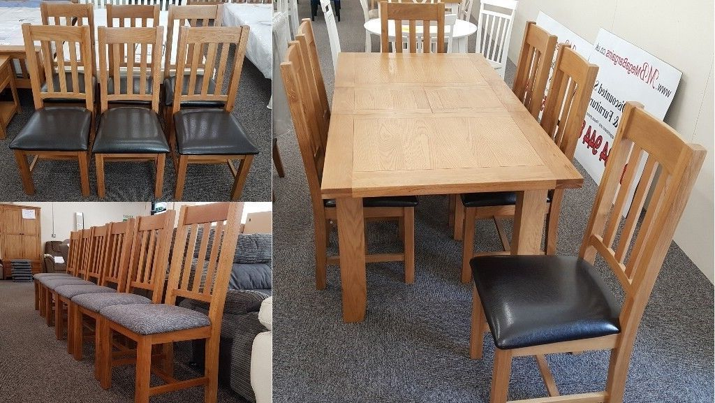 Famous Extending Oak Dining Tables Regarding Julian Bowen Astoria Extending Oak Dining Table & 6 Dining Chairs (View 20 of 20)