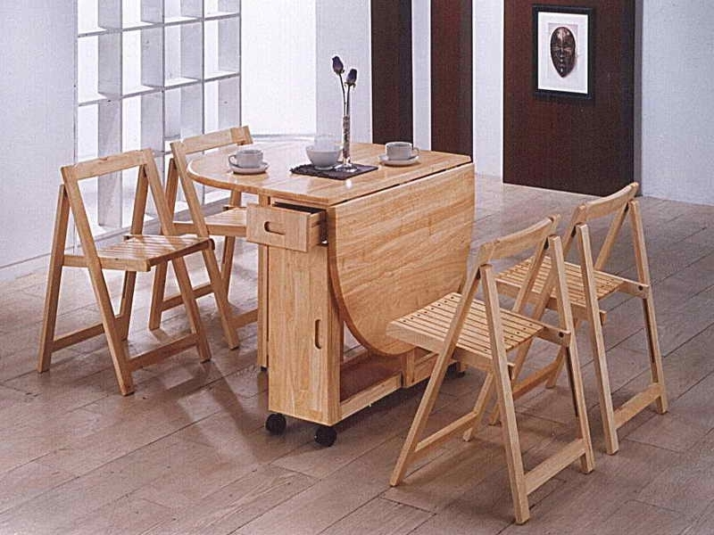 Famous Folding Dining Table And Chairs – Lmcompost Intended For Compact Folding Dining Tables And Chairs (View 13 of 20)