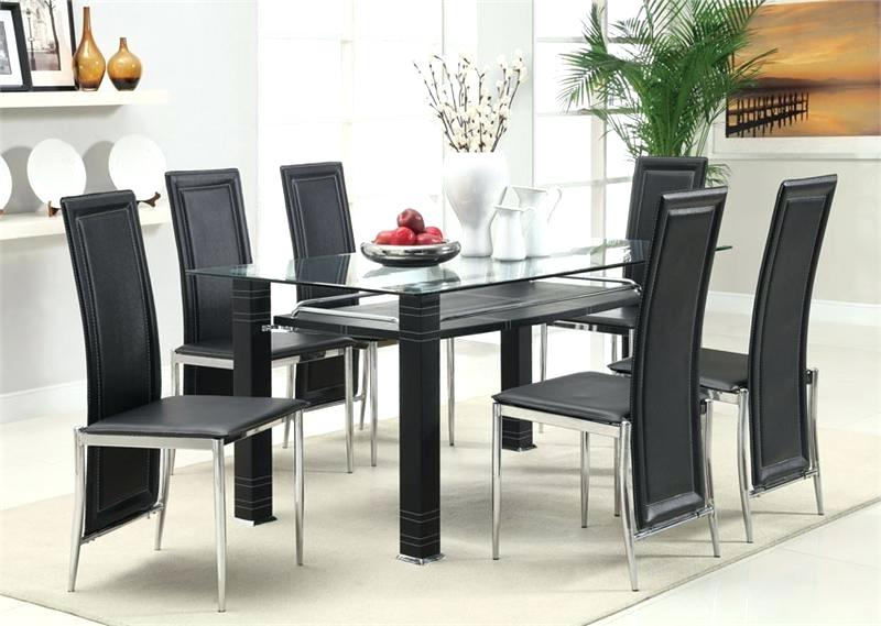 Famous Glass Dining Tables Sets Within Glass Dining Room Sets S Table Walmart Clearance Cheap Top (View 7 of 20)