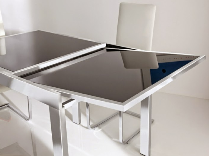 Famous Glass Folding Dining Tables With Regard To Queen Table: Glass Dining Table (View 5 of 20)