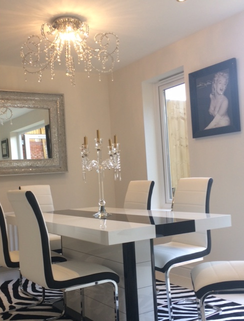 Famous High Gloss Dining Chairs Inside Buy High Gloss Black & White Extending Dining Table 160 256Cm 10  (View 3 of 20)
