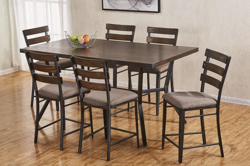Famous Hudson Dining Tables And Chairs With Simmons™ Hudson 7 Piece Counter Height Dining Set At Menards® (View 9 of 20)