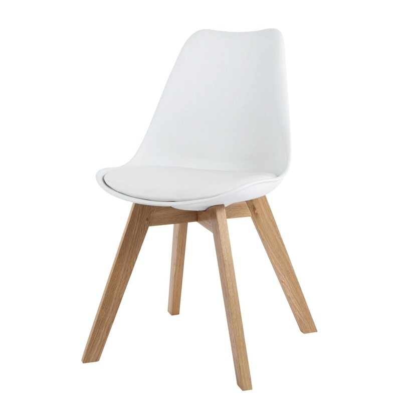 Famous Jaxon Wood Side Chairs Inside Jaxon Designer Pp Shell Dining Chair White – Furnituredirect (View 4 of 20)
