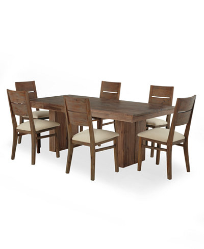 Famous Macie 5 Piece Round Dining Sets Within Champagne Dining Room Furniture 7 Piece Set Created For Macy S (View 6 of 20)