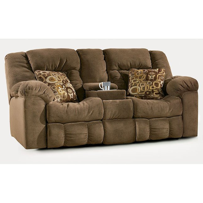 Famous Macie – Brown Reclining Sectional Signature Designashley Regarding Macie Round Dining Tables (View 4 of 20)