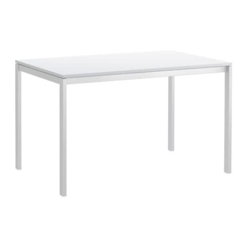 Famous Mandy Paper White Side Chairs With Melltorp Table White 125 X 75 Cm – Ikea (View 5 of 20)
