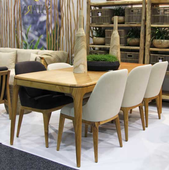 Famous New York Dining Tables Regarding New York Dining Table Indoor Furniture Teak Satara Australia (Gallery 14 of 20)