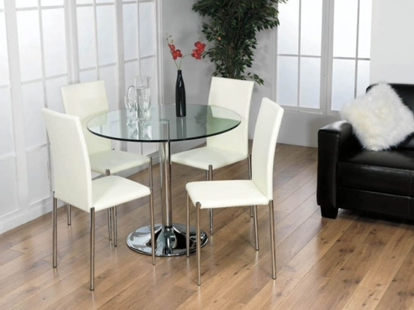 Famous Nice Small Dining Table Chairs With Small Glass Dining Tables Sets Within Compact Dining Tables And Chairs (View 12 of 20)