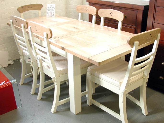 Famous Oak Extending Dining Tables And 6 Chairs Inside Sofa Sale (View 7 of 20)