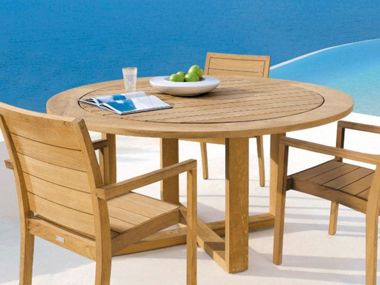 Famous Outdoor Sienna Dining Tables With Regard To Modern Teak Batyline Outdoor Dining Oenthouse Balcony Luxury Patio (View 6 of 20)