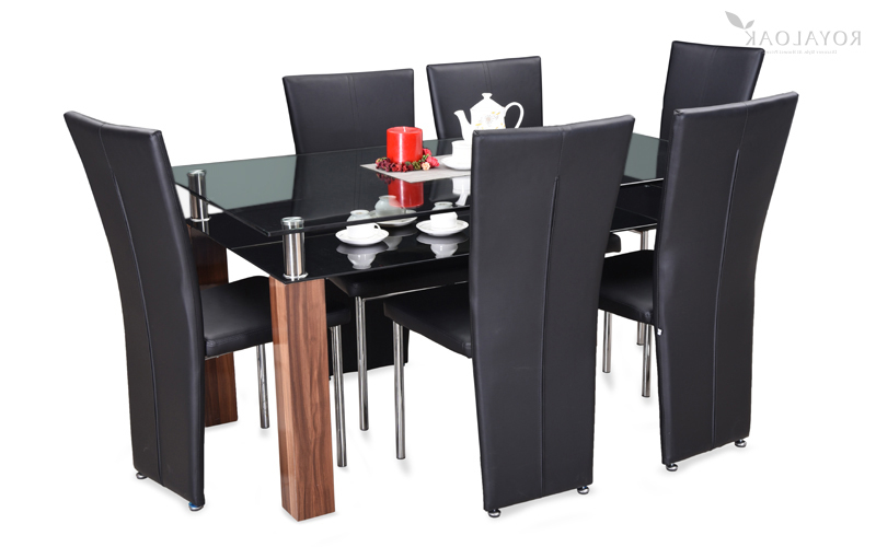 Famous Paris Dining Tables For Buy Royaloak Paris 6 Seater Dining Set With Tempered Glass Table Top (View 12 of 20)