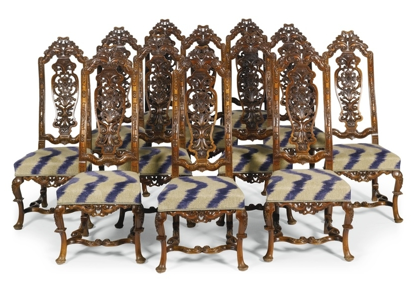 Famous Partridge Side Chairs With Frank Partridge :: A Set Of Twelve Queen Anne Walnut Side Chairs (View 8 of 20)
